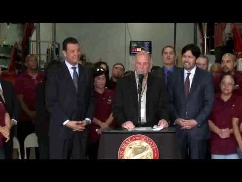 Senators De León, Padilla, Lara Unveil Sb270 - Plastic Bag Ban Legislation 1-24-14 video