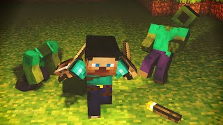 Minecraft Animacion - La Leyenda (Fight Animation)