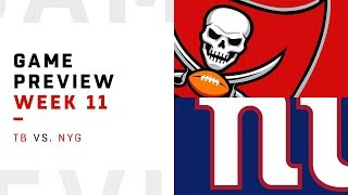 Tampa Bay Buccaneers vs. New York Giants | Week 11 Game Preview | Pro Football Focus