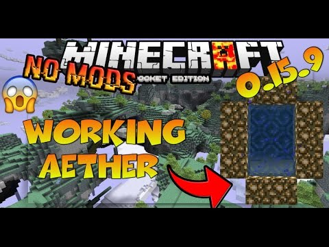 MINECRAFT PE 1.2 WORKING AETHER NO MODS / HOW TO GO TO THE AETHER IN MINECRAFT PE 0.15.9 NO MODS!