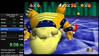 Super Mario 64 16 Star Speedrun in 20:45