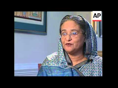 Intv with former Bangladesh PM after charges reportedly brought against her