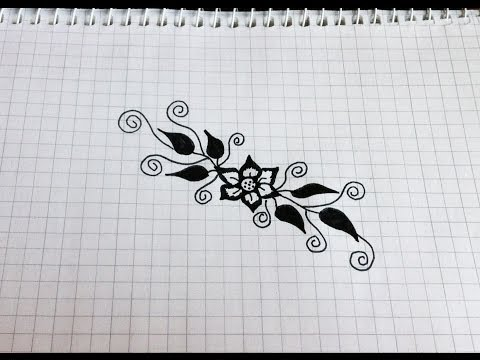 Видео как нарисовать красивые узоры карандашом