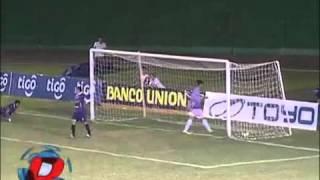 Gol a Blooming- Liga de Futbol Boliviano- Martin Blanco