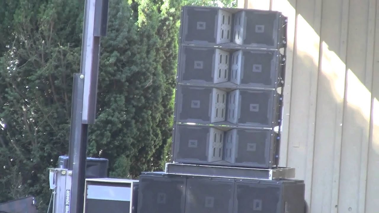 Jbl Vertec Line Array At Monterey Ca Fair Grounds Youtube