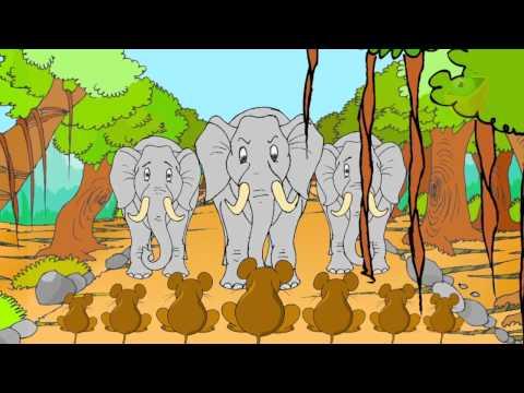 Elephant And Mice - Panchatantra Stories - Telugu video