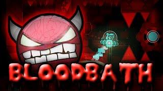 "Geometry Dash - ""BLOODBATH"" [EXTREME Demon] by Riot & more!   GuitarHeroStyles"