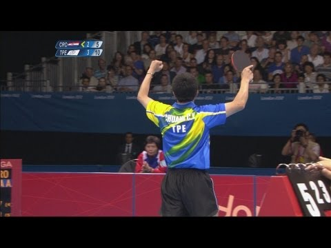 Table Tennis Men's Singles 4th Round - Croatia v Chinese Taipei Replay - London 2012 Olympic Games