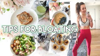 WHAT I EAT IN A DAY: tips for bloating