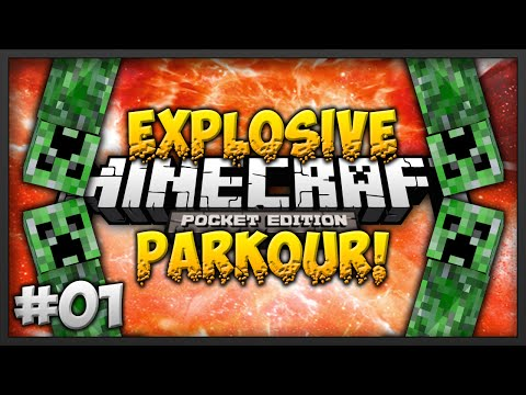 Minecraft Pocket Edition: CREEPER FUN TIME Explosive Parkour Parkour Map