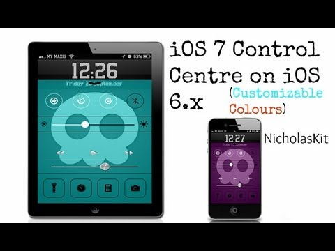 Get iOS 7 Control Center For iOS 6.x Devices [Customizable Colours]