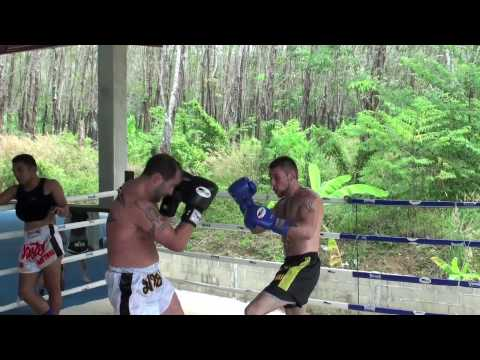 Danny Baci boxing sparring with UFC vet Dave Menne @ Tiger Muay Thai Video