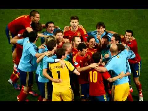 4 0 SPAIN WIN EURO 2012 Celebrate FINAL 01 07 2012 CAMPIONES ESPANA