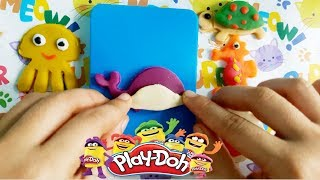 Learn Colors by Playdoh Underwater Animals: JellyFish, Turtle, Shark...Best Fun for Kids
