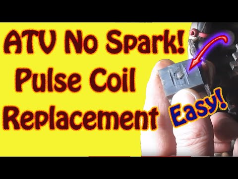 DIY Polaris Sportsman ATV No Spark - How to Diagnose and Replace a Pulse Coil Trigger Coil Ignition