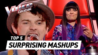 MOST SURPRISING MASHUP auditions in The Voice