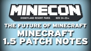 Minecraft: MINECON 1.5 NEWS! (THE REDSTONE UPDATE)