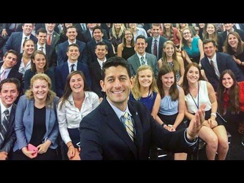 #GOPSoWhite: Paul Ryan's Selfie With Interns Goes Viral