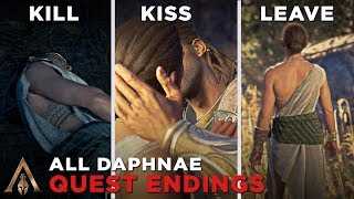 All Daphnae Quest Ending (Kill/Kiss/Leave) - Assassin's Creed Odyssey