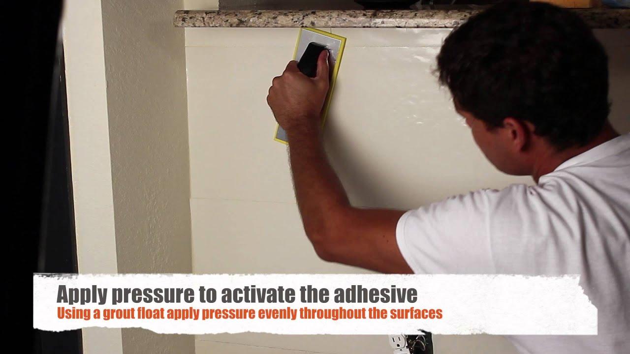 How to apply backsplash tiles