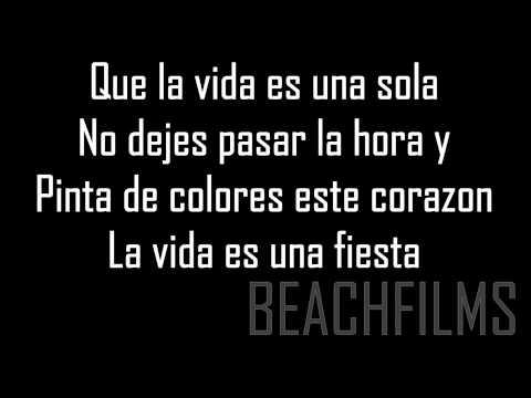 Vi Em - Canta (La vida es una fiesta) - Letra/Lyrics