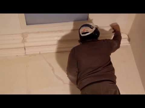 Plastering Installing Victorian Cornice on a lath and Plaster Ceiling