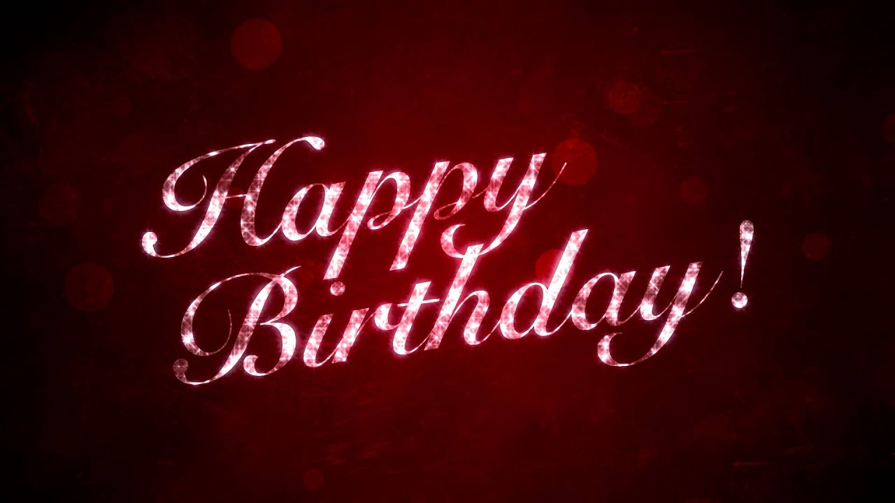 Happy Birthday on Red - HD Motion Graphics Background Loop ...