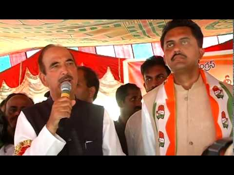 Gulam Nabi Azad asking Sangareddy people to vote for Dr P Shravan Kumar Reddy  & Jagga Reddy