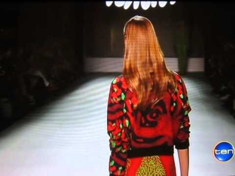 0 Desert Designs at Mercedes Benz Fashion Week on Channel 10 news !