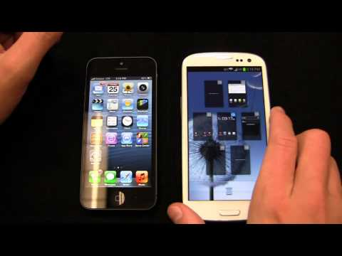 Apple iPhone 5 vs. Samsung Galaxy S III Dogfight Part 1