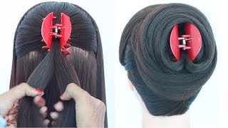 new latest juda hairstyle with clutcher || everyday hairstyles || cute hairstyles || new hairstyle