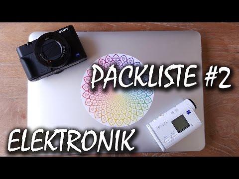 Packliste: TECHNIK UND ELEKTRONIK Auf Weltreise | Backpacking Packliste #2
