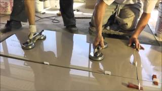 "(4.69 MB) Porcelain tiles 2'x4' (24""x48"") installation - Polmaster's New Showroom Mp3"
