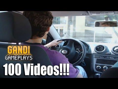 Gandi dirigindo e fazendo baliza! 100 videos!