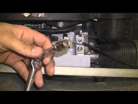 Setting the engine rpm on a honda mower.wmv