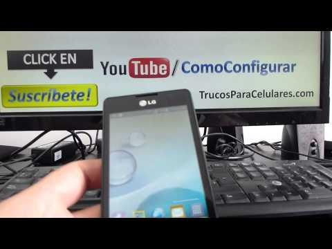 Cómo guardar fotos en la MicroSD en Android LG Optimus L4 comoconfigurar