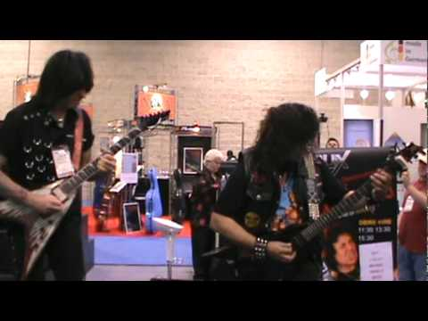 MICHAEL ANGELO BATIO AND MIKE GUERRERO (THE TAPPING NINJA) NAMM JAM 2012