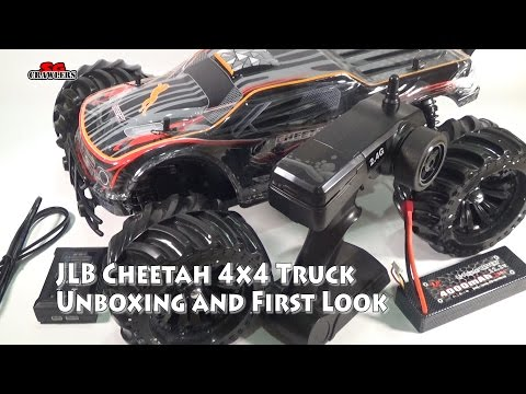 Unboxing and First Look JLB 2.4G Cheetah 1:10 Scale 4 Wheel Drive High Speed Buggy RC Racing Car