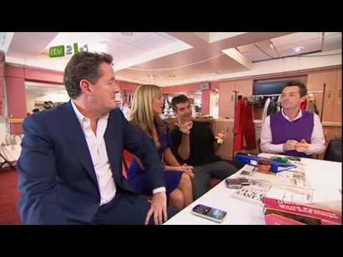 Simon Cowell kisses Amanda Holden