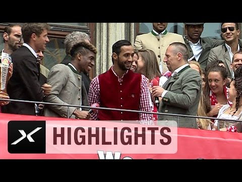Deutsch-Lehrer Franck Ribery foppt Kingsley Coman und Mehdi Benatia | FC Bayern München