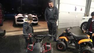 Yianni wraps his kids Quad Bikes!