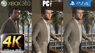 GTA 5 Graphic Comparison | PC (4k) vs PS4 vs XBOX 360 Shootout