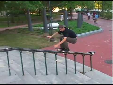 Kevin Klemme Boardslide Up Monument Rail Providence B Roll