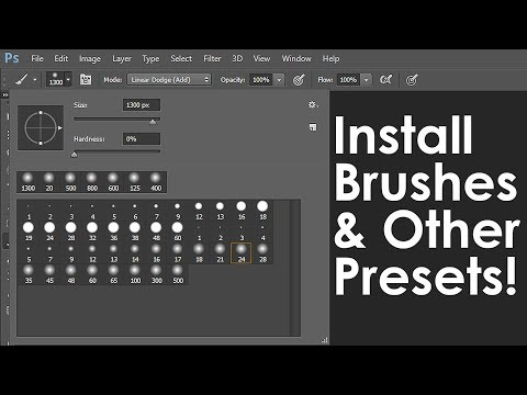Photoshop: How to Download & Install New Brushes & other Presets