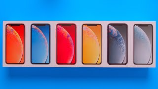 All iPhone XR Colors Unboxing + Comparison