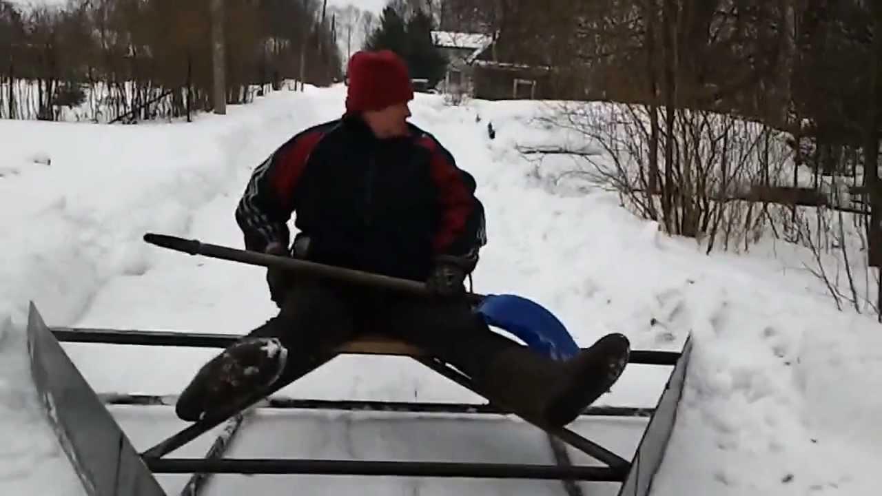 Приспособление для уборки снега своими руками фото