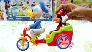 Mickey Mouse and Donald Duck Toys Fun Time Ridding Bicycle - Surprise Toys Game