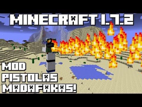 Minecraft 1.7.2 MOD LAS PISTOLAS MADAFAKAS!