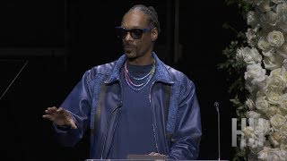 Snoop Dogg Speaks At Nipsey Hussle