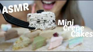Delicious Mini Crepe Cake | ASMR Relaxing Soft Eating Sounds | N.E Let's Eat